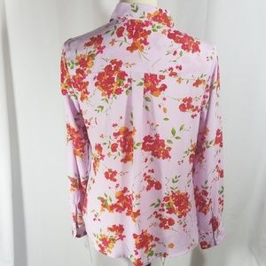 Nanette Lepore Tops - Haute Pink floral blouse by Nanette Lepore s S NWT